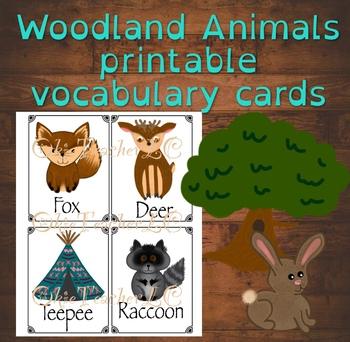 Woodland Animals- vocabulary pictures