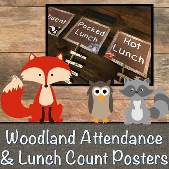 Woodland Attendance System Posters
