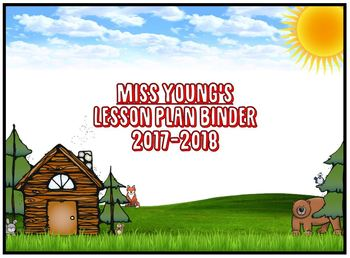 Woodland Binder Cover (Letter Size: Horizontal)