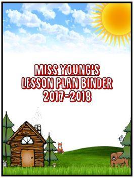 Woodland Binder Cover (Letter Size: Vertical)