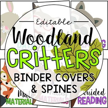 Woodland Binder Covers (19 Covers & Matching Spines)