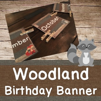 Woodland Birthday Banner