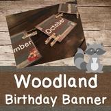 Woodland Birthday Banner
