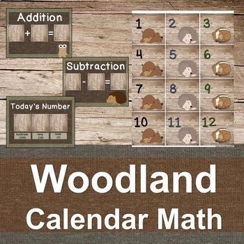Woodland Calendar Math Set