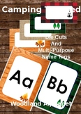 Woodland Camping Alphabet ABCs and Die cut name tags