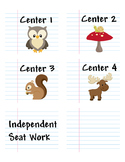 Woodland / Camping Center Labels