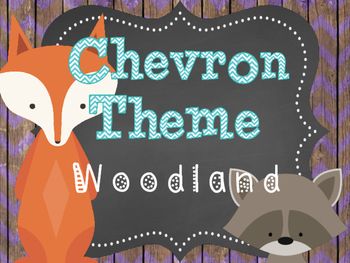 Woodland Chevron Theme Bundle