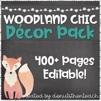 Woodland Chic Decor Pack