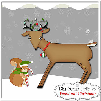 Woodland Christmas: Fox, Deer, Owl, Squirrels, Rabbit, Snow