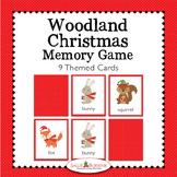 Woodland Christmas Memory Game - Woodland Animals Theme Activity