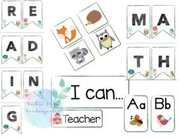 Woodland Classroom Bundle
