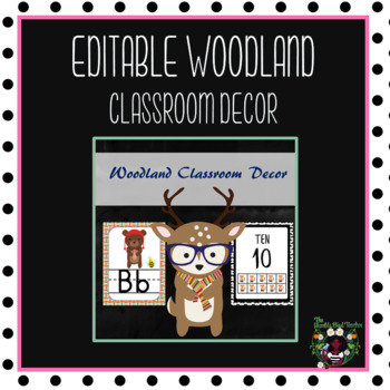 Woodland Classroom Theme Decor