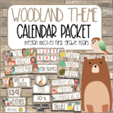 Woodland Classroom Decor Calendar Helper