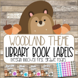 Woodland Classroom Decor Library Book Labels