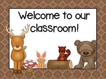 Woodland Classroom Decor Set