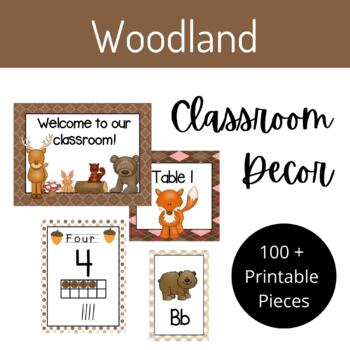 Woodland Classroom Decor Set