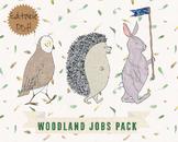 Woodland Animals Classroom Jobs - Clip Art and Editable PD