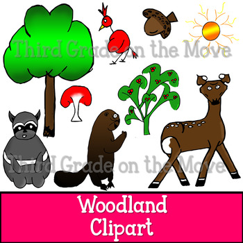 Woodland Clip Art Set