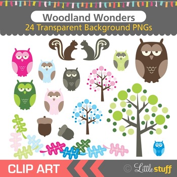 Woodland Clipart, Woodland Forest Clip Art