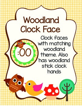 Woodland Clock Face