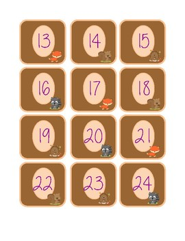 Woodland Collection- Calendar Numbers