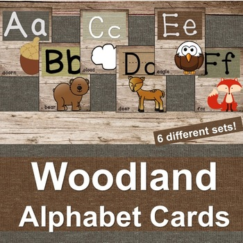 Woodland Creature Alphabet Letter Cards