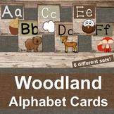 Woodland Creature Alphabet Letter Cards