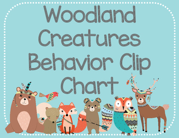Woodland Creature Behavior Clip Chart
