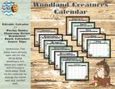 Woodland Creature Calendars (Editable)