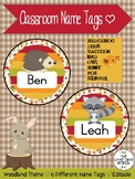 Woodland Creature Name Tags / Classroom Labels