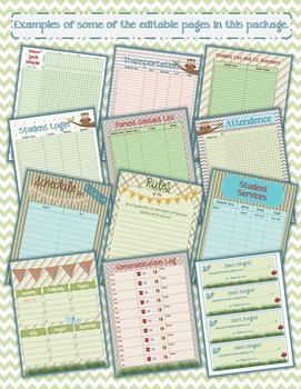 Woodland Creature Teacher Forms and Spreadsheets