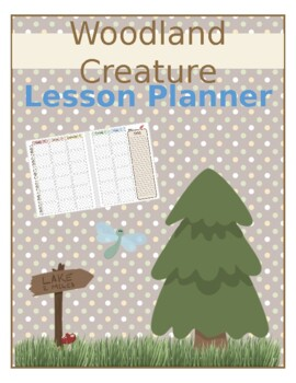 Woodland Creature Teacher Planner