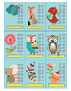 Woodland Creatures Behavior Punch Card