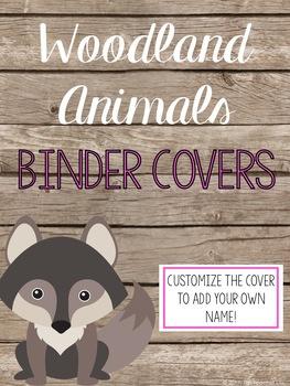 Woodland Creatures Binder Covers