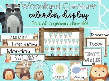 Woodland Creatures Birthday Calendar Set