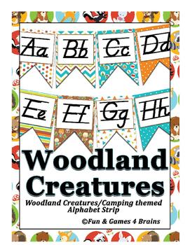 Woodland Creatures (Camping) themed D'Nealian Manuscript A
