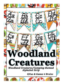 Woodland Creatures /Camping themed D'Nealian manuscript &c