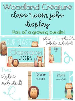 Woodland Creatures Classroom Decor (Growing Bundle)