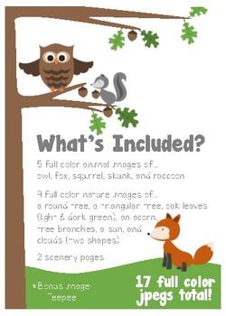 Woodland Creatures Clipart
