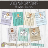 Woodland Creatures Editable Binder Covers