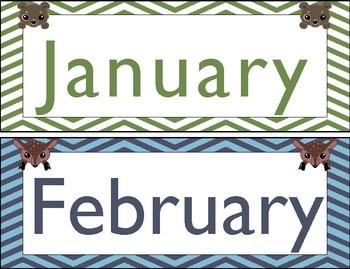 Woodland Creatures/Forest Themed Calendar Set
