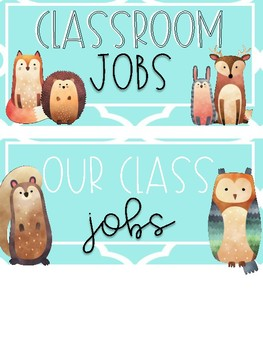Woodland Creatures Job Set
