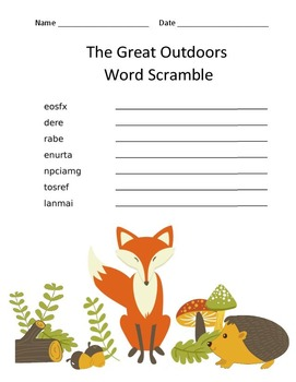 Woodland Creatures Language Arts Worksheets
