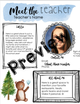 Meet The Teacher Letter Spanish Worksheets Teaching Resources Tpt