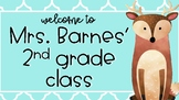 Woodland Creatures Welcome/curriculum Night PPT (editable)