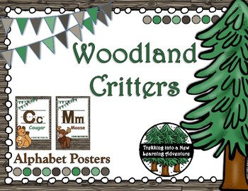Woodland Critter Alphabet Posters