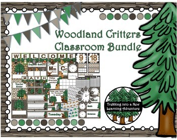Woodland Critter Classroom Decor Bundle