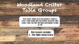 Woodland Critter Table Groups