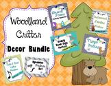Woodland Critter Theme Decor Bundle