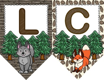 Woodland Critter Welcome Banner and Poster